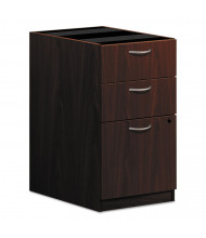 Basyx Laminate 3-Drawer Box/Box/File Pedestal, Mahogany