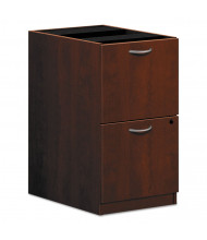 Basyx Laminate 2-Drawer File/File Pedestal, Medium Cherry