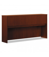 "Basyx BL 72"" 4-Door Laminate Hutch, Medium Cherry"