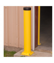 "Bluff 6"" Round Steel Bollard Posts (Shown in Yellow)"