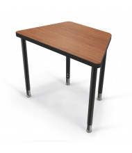 "Balt Snap 30"" x 18"" Small Trapezoid Height Adjustable Student Desk (in Amber Cherry, large model shown)"