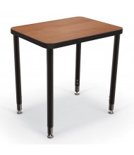 "Balt Snap 29"" x 20"" Large Rectangle Height Adjustable Student Desk (Shown in Amber Cherry)"