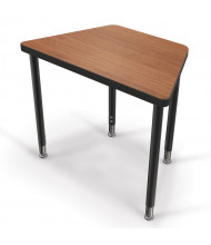 "Balt Snap 30"" x 18"" Large Trapezoid Height Adjustable Student Desk (Shown in Amber Cherry)"