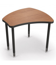 Balt Shapes Small Height Adjustable Student Desk (Shown in Amber Cherry)