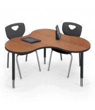 "Best-Rite Cloud 9 47"" x 33"" Medium Collaboration Table (Amber Cherry)"