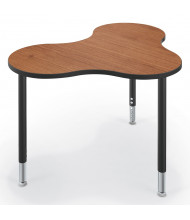 """Best-Rite Cloud 9 47"""" x 33"""" Medium Collaboration Table (Shown in Amber Cherry)"""