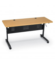 "Balt Flipper 60"" W x 24"" D Nesting Training Table (Shown in Teak)"