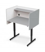 Balt Height Adjustable Student Study Carrel (Shown in Grey)
