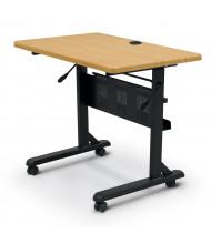 """Balt Flipper 36"""" W x 24"""" D Nesting Training Table (Shown in Teak)"""