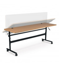 "Balt Economy 60"" W x 24"" D Nesting Flipper Training Table (Shown in Teak)"