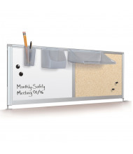 "Balt 58"" W Dry Erase/Bulletin Board Desk Privacy Panel, Light Quarry"