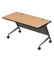 """Balt Trend 60"""" W x 24"""" D Flipper Training Table 90276 (Shown in Oak)"""