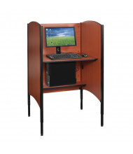 Balt Up-Rite Height Adjustable Student Study Carrel (example of use)
