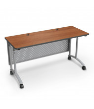"Balt 72"" W Height Adjustable Teacher Desk  (Amber Cherry)"