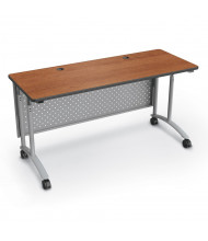 "Balt 72"" W Height Adjustable Teacher Desk  (Shown in Amber Cherry)"