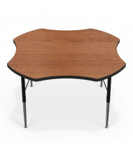 "Balt 48"" Clover Classroom Activity Table (Amber Cherry)"