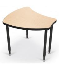 Balt Shapes Height Adjustable Student Desk, Fusion Maple