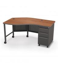 "Balt 60"" W Instructor Teacher Desk II, Black Base (Shown in Cherry)"