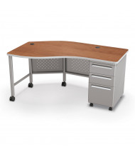 """Balt 60"""" W Instructor Teacher Desk II, Platinum Base (Shown in Cherry)"""