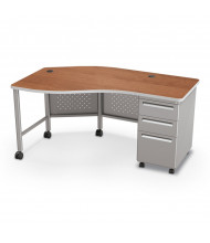 "Balt 60"" W Instructor Teacher Desk II, Cherry / Platinum"
