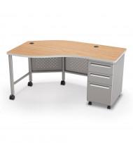 """Balt 60"""" W Instructor Teacher Desk II, Oak / Platinum"""