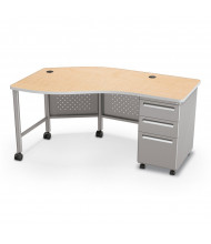 "Balt 60"" W Instructor Teacher Desk II, Oak / Platinum"