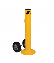 "Vestil 5.5"" Round 42"" H Movable Bollard Post with Removable Cap (plastic cap)"