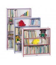 "Jonti-Craft Rainbow Accents 60"" Tall 5-Shelf Classroom Bookcase (shown with 3-shelf and 4-shelf models)"