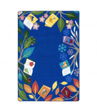 Joy Carpets Books For All Seasons Rectangle Classroom Rug