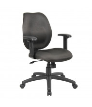 Boss B1014-BK Ratchet Back Fabric Mid-Back Task Chair