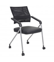Boss B1806 Mesh-Back CaressoftPlus Folding Nesting Chair, Pack of 2