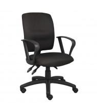 Boss B3037 Multifunction Crepe Fabric Mid-Back Task Chair