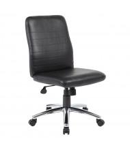 Boss B430-BK Vinyl Mid-Back Task Chair