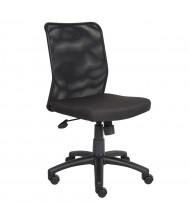 Boss B6105 Mesh-Back Fabric Mid-Back Task Chair