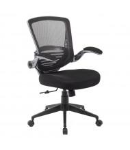 Boss B6356-BK Contemporary Mesh-Back Fabric Mid-Back Task Chair
