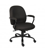 Boss B670-BK Big & Tall 300 lb. Heavy-Duty Fabric Mid-Back Task Chair