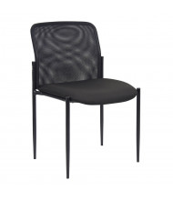 Boss B6919 Contemporary Mesh-Back Fabric Stacking Chair
