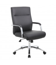 Boss B696C Modern Vinyl Mid-Back Executive Conference Chair (Shown in Black)