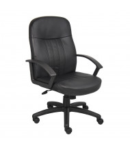 Boss B8106 LeatherPlus Mid-Back Executive Office Chair