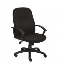 Boss B8306 Crepe Fabric High-Back Executive Office Chair
