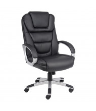 """Boss """"No Tools Required"""" LeatherPlus High-Back Executive Office Chair (Shown in Black)"""