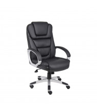 """Boss B8601 """"No Tools Required"""" LeatherPlus High-Back Executive Office Chair"""