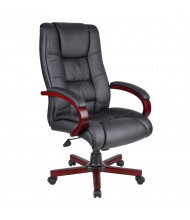 Boss B8991 CaressoftPlus Wood High-Back Executive Office Chair (Shown in Cherry)