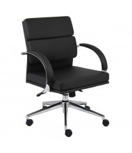 Boss Aaria B9406 CaressoftPlus Mid-Back Executive Office Chair (Shown in Black)