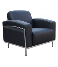 Boss BR99001-BK Contemporary CaressoftPlus Lounge Reception Chair
