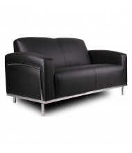 Boss BR99002-BK Contemporary CaressoftPlus Reception Loveseat
