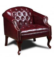 Boss BR99801-BY Traditional Vinyl Wood Reception Club Chair