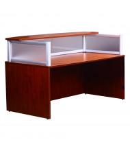 """Boss N269G 71"""" W Plexiglass Reception Desk (Shown in Cherry)"""