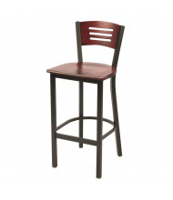 KFI Seating BR3315B Wood Low-Back Cafe Barstool (Shown in Light Mahogany)