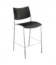 Mayline Escalate ESS2B 2-Pack Plastic Low-Back Bistro Stool